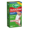 Curad QuickStop Flex Fabric Bandages, Assorted, 30/Box