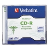 Verbatim MediDisc CD-R, 700MB, 52X, Thermal Printable Branded Surface, 1/PK Jewel Case