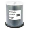 Verbatim CD-R, 700MB, 52X, White Inkjet Printable, Hub Printable, 100/PK Spindle