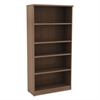 Alera Alera Valencia Series Bookcase, Five-Shelf, 31 3/4w x 14d x 65h, Modern Walnut