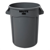 Rubbermaid Commercial Round Brute Container, Plastic, 32 gal, Gray