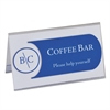 "C-Line Tent Card Holders, 2"" x 3 1/2"", Rigid Heavyweight Clear Plastic, 40/Box"