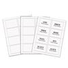 Laser Printer Name Badges, 3 3/8 x 2 1/3, White, 200/Box