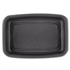 Microwave-Safe Containers 24oz Plastic Black, 8-3/4x6-1/8x1-1/2, 75/BG 4 BG/CT