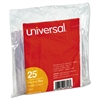 "Universal Hanging File Folder Plastic Index Tabs, 1/3 Tab Cut, 3 1/2"" Tab, Clear, 25/Pack"