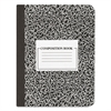 Universal Composition Book, College Rule, 9 3/4 x 7 1/2, White, 100 Sheets