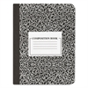 Universal Composition Book, College Rule, 9 3/4 x 7 1/2, White, 100 Sheets, 6/Pack