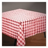 "Hoffmaster Tissue/Poly Tablecovers, 54"" x 108"", Red/White Gingham"
