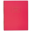 Cambridge Fashion Twinwire Business Notebook, 11 x 9, Pink, 80 Sheets