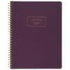 Fashion Twinwire Business Notebook, 9 1/2 x 7 1/4, Purple, 80 Sheets
