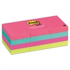 Post-it Original Pads in Cape Town Colors, 1 1/2 x 2, 100-Sheet, 12/Pack