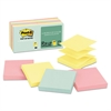 Post-it Original Pop-up Refill, 3 x 3, Assorted Marseille Colors, 100-Sheet, 12/Pack