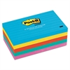 Post-it Original Pads in Jaipur Colors, 3 x 5, Lined, 100-Sheet, 5/Pack