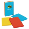 Post-it Original Pads in Jaipur Colors, Lined, 4 x 6, 100-Sheet, 3/Pack