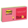 Post-it Original Pop-up Refill, 3 x 3, Assorted Cape Town Colors, 100-Sheet, 6/Pack