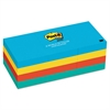 Post-it Original Pads in Jaipur Colors, 1 1/2 x 2, 100-Sheet, 12/Pack