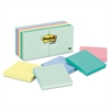 Post-it Original Pads in Marseille Colors, 3 x 3, 100-Sheet, 12/Pack