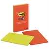 Post-it Pads in Marrakesh Colors, Lined, 5 x 8, 45-Sheet, 4/Pack