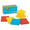 Post-it Original Pop-up Refill, 3 x 3, Assorted Jaipur Colors, 100-Sheet, 12/Pack