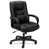 basyx VL131 Series Executive High-Back Chair, Black Vinyl