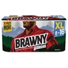 Brawny Pick-A-Size Perforated Roll Towel, 2-Ply, 11 x 6, White, 156/Roll, 8 Roll/Ctn