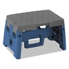 """One-Step Folding Step Stool, 300 lb, 8 1/2"""" Working Height, Blue/Gray"""
