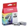 Canon BCI15BK (BCI-15) Ink, Black, 2/PK
