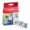 Canon BCI15 (BCI-15) Ink, Tri-Color, 2/PK