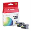 Canon BCI16 (BCI-16) Ink, Tri-Color, 2/PK