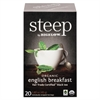 Bigelow steep Tea, English Breakfast, 1.6 oz Tea Bag, 20/Box