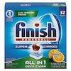 FINISH Powerball Dishwasher Tabs, Orange Scent, 32/Box, 8 Boxes/Carton