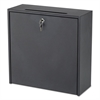Wall-Mountable Interoffice Mailbox, 18w x 7d x 18h, Black
