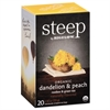 Bigelow steep Tea, Dandelion & Peach, 1.18 oz Tea Bag, 20/Box