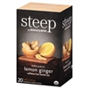 Bigelow steep Tea, Lemon Ginger, 1.6 oz Tea Bag, 20/Box