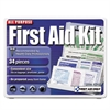 First Aid Only All-Purpose First Aid Kit, 34 Pieces, 3 3/4 x 4 3/4 x 1/2, Blue/White