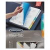 Wilson Jones View-Tab Transparent Index Dividers, 5-Tab, Rectangle, Letter, Assorted