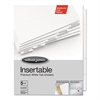 Gold Pro Insertable Tab Index, Clear 5-Tab, Letter, White Sheets