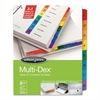 Wilson Jones Multi-Dex Index Assorted Color 8-Tab, 1-8, Letter