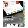 Wilson Jones View-Tab Paper Index Dividers, 8-Tab, Square, Letter, Assorted