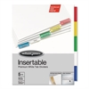 Wilson Jones Gold Pro Insertable Tab Index, Multicolor 5-Tab, Letter, White Sheets