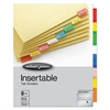 Wilson Jones Single-Sided Reinforced Insertable Index, Multicolor 8-Tab, Letter, Buff