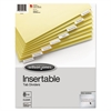 Single-Sided Reinforced Insertable Index, Clear, 8-Tab, Letter, Buff