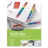 Wilson Jones Multi-Dex Index, Assorted Color 12 Month Tabs, Letter