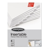 Wilson Jones Gold Pro Insertable Tab Index, Clear 8-Tab, Letter, White Sheets