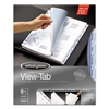 View-Tab Transparent Index Dividers, 8-Tab, Rectangle, Letter, Clear
