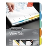 Wilson Jones View-Tab Paper Index Dividers, 5-Tab, Square, Letter, Assorted