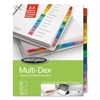 Multi-Dex Index Assorted Color 12-Tab, Labeled 1-12, Letter