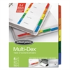 Wilson Jones Multi-Dex Index Assorted Color 5-Tab, 1-5, Letter