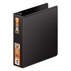 "Heavy-Duty D-Ring Binder w/Extra-Durable Hinge, 2"" Cap, Black"