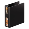"Heavy-Duty D-Ring Binder w/Extra-Durable Hinge, 3"" Cap, Black"